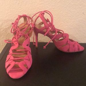 Banana Republic pink high heels